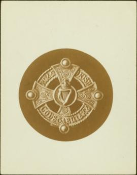 Closeup of an Royal Irish Constabulary pouch badge