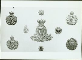 Closeup of Dublin Metropolitan Police badges