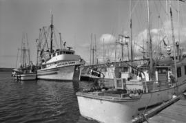 "The ""Northern Dawn"" and unidentified fishing boat in Prince Rupert Marina"