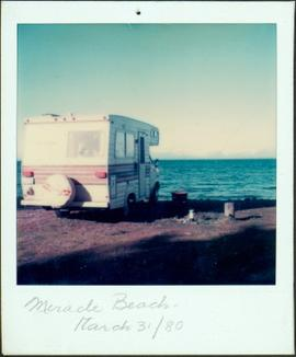Camper Parked on Miracle Beach, BC