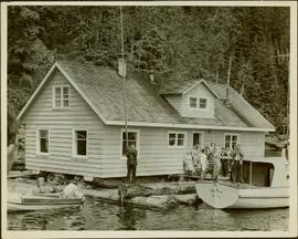 Service at Mrs. Lane's floating home