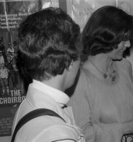 Iona Campagnolo and woman at grand opening of Cassiar theatre