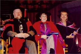 Bridget Moran, Richard Margison, & Unidentified Woman on Convocation Stage