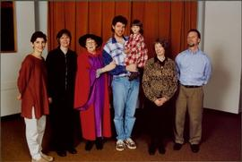 Bridget Moran in Regalia, Standing with Family