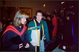 Bridget Moran Climbing Stairs after UNBC Convocation Ceremony