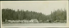 Oscar Johnston's fishing camp on the move at Seymour Inlet