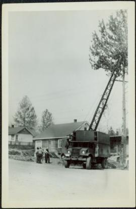 Truck & Crane in Residential Area