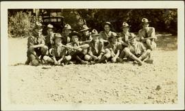 Group photo of Boy Scouts at Scotch Creek Scout Camp