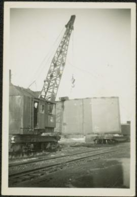 Crane at Railway Tracks