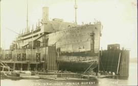 Large Ship in Dry Dock at Prince Rupert, BC