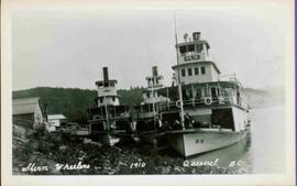 Three Sternwheelers in Quesnel, BC