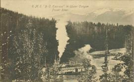 BC Express in Upper Canyon, Fraser River, BC