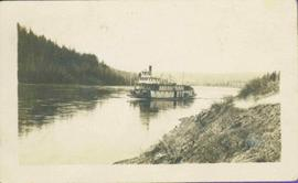 Sternwheeler in River