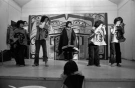 Glen Vowell First Nations children performing at potluck