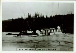SS Quesnel on Rocks in Fort George Canyon, BC