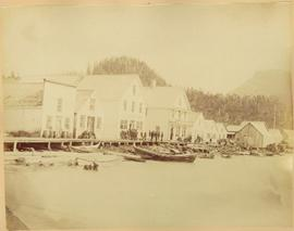 Shops along Shore at Port Essington, BC