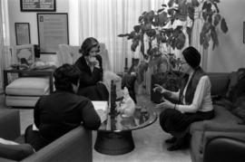 Iona campagnolo at a meeting with two women in her Ottawa office