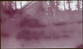 Taku River Survey - Man at Tent