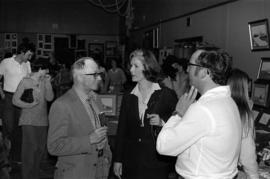 Iona Campagnolo mingling with crowd at grand opening of Grand Lodge for Independent Order of Odd ...