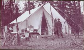 Taku River Survey - Men in Campsite