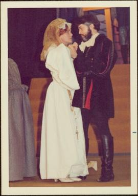 May Diver in Costume as Mary Stuart, with unidentified man
