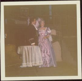 Unidentified Man and Woman in Costume for Mary Stuart Production