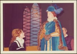 May Diver and Rosemary Gilbert in Costume as Mary Stuart & Queen Elizabeth