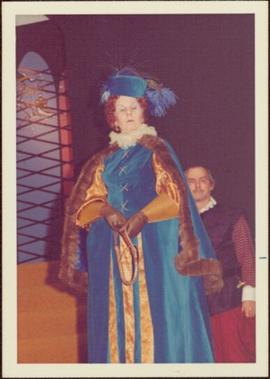 Rosemary Gilbert in Costume as Queen Elizabeth
