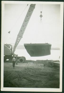 Crane & Portion of Boat Hull