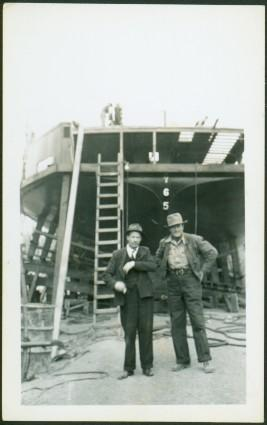 Unknown Men at Ship Construction