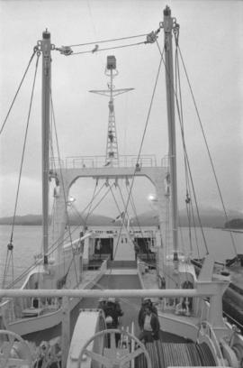 "Deck view of Fishing Vessel ""Callistratus"" at Fairview Terminal in Prince Rupert"