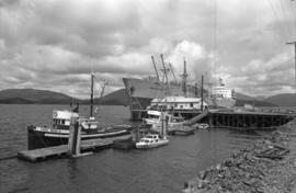 "Docked ships ""Cape Ball"" and ""Aegean Sea"" in Prince Rupert"