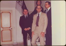 Ministry of Sport Tour - Ian Howard, an unidentified man, Minister Iona Campagnolo, and Eric Mors...