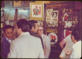 Ministry of Sport Tour - Group of five unidentified men in La Bodeguita, Havana, Cuba