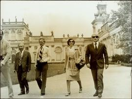 Geoff Gowen, Roger Jackson, Iona Campagnolo, and a KGB official outside the Museum of King Jan II...