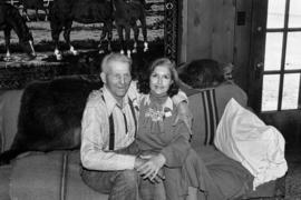 Iona Campagnolo with Bill Campbell at his home in Smithers