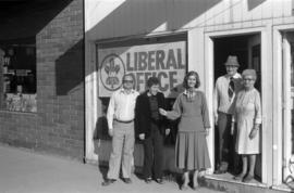 Iona Campagnolo at Liberal office in Smithers