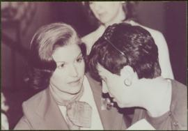 Minister Iona Campagnolo speaking to Carol Pughese, 1978