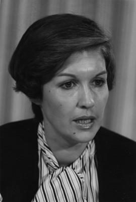 Iona Campagnolo wearing striped blouse in a Liberal promotional photograph