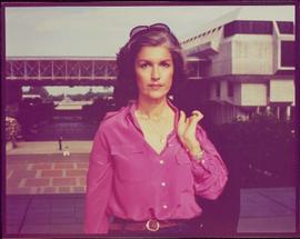 CBC Close view of Iona Campagnolo at Simon Fraser University, summer 1980