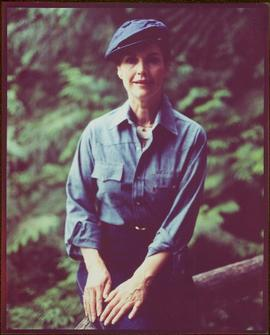 CUSO Mission, North-eastern Thailand - Portrait of Iona Campagnolo in a blue shirt and beret