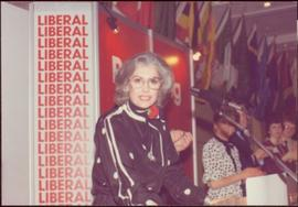 Iona Campagnolo speaking at the Nova Scotia Liberals convention, Halifax, March 1983