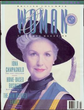 Front Cover of British Columbia Woman To Woman Magazine, July 1992