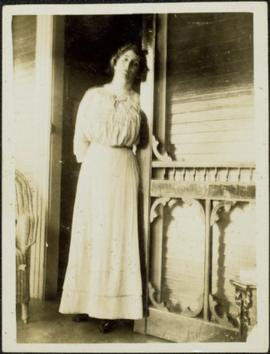 Woman on Front Porch