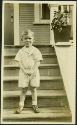 Young Boy on Steps