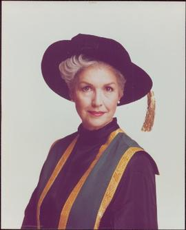Portrait of Iona Campagnolo in Chancellor's regalia