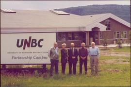 Chancellor's Tour - Iona Campagnolo in group at the UNBC regional campus in Chetwynd, BC