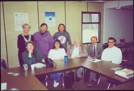 Chancellor's Tour - Iona Campagnolo with group in a classroom at Northern Lights College, Fo...