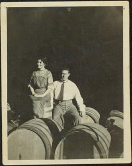 Couple Sitting in Winery