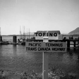 Terminus of Trans Canada Highway in Tofino, B.C.